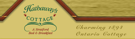 Bed and Breakfast in Stratford Ontario Hathaways Cottage b